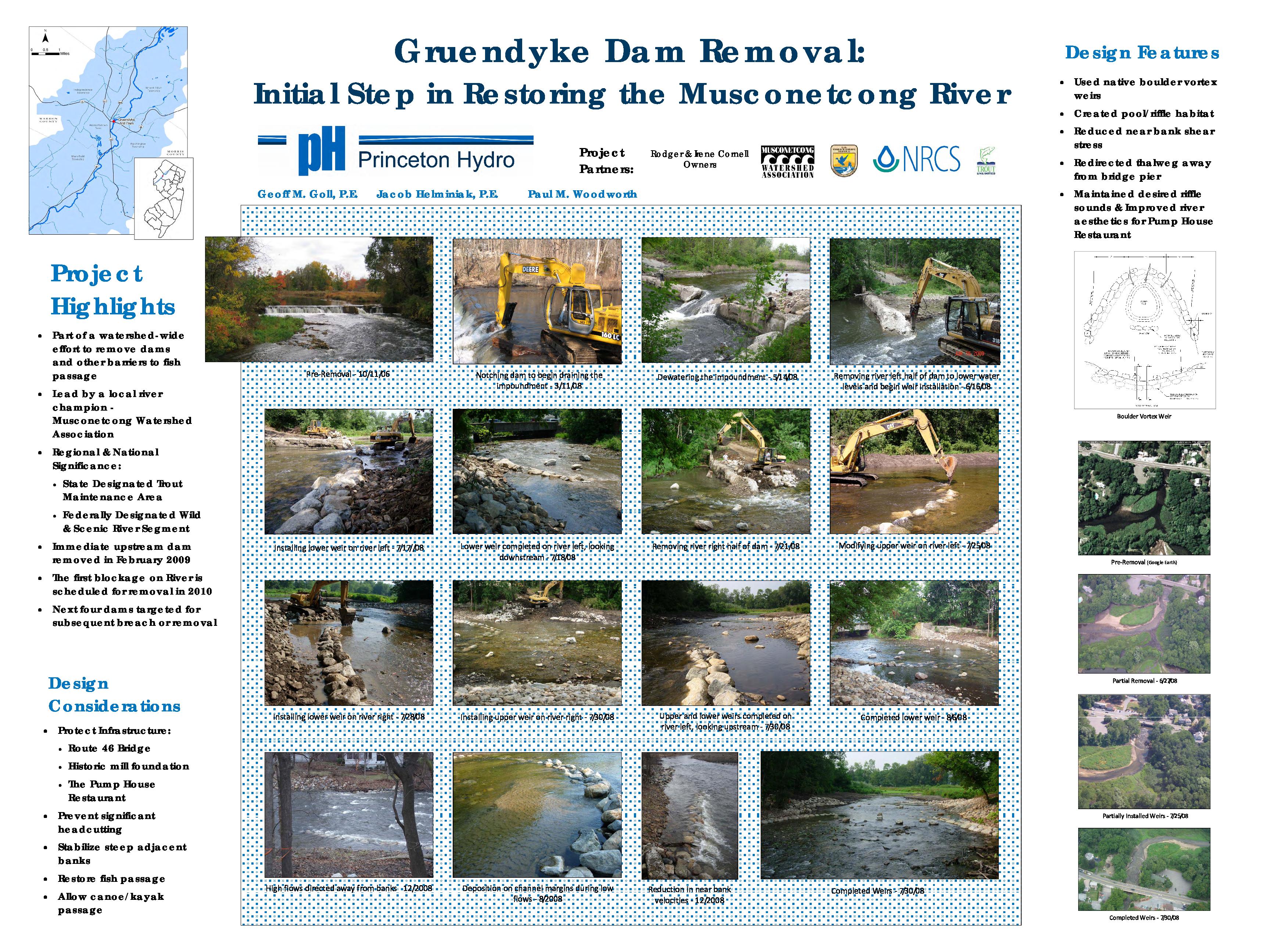 Gruendyke dam removal: Initial steps in restoring Musconetcong River