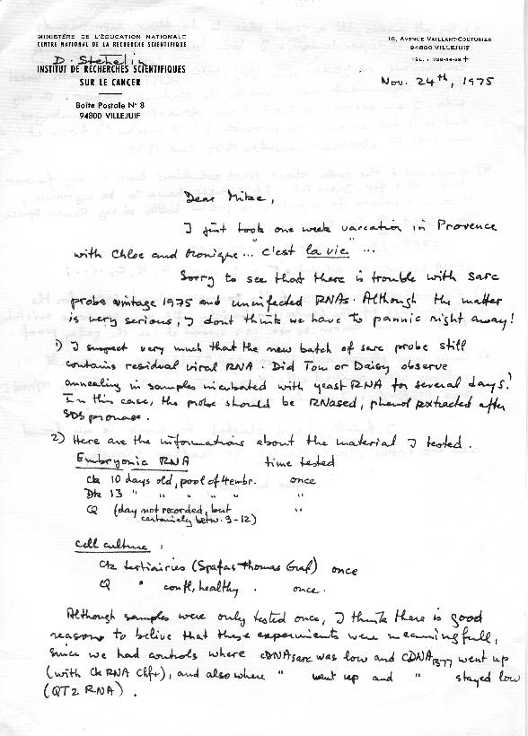 Dominique Stehelin letter to J. Michael Bishop (1)