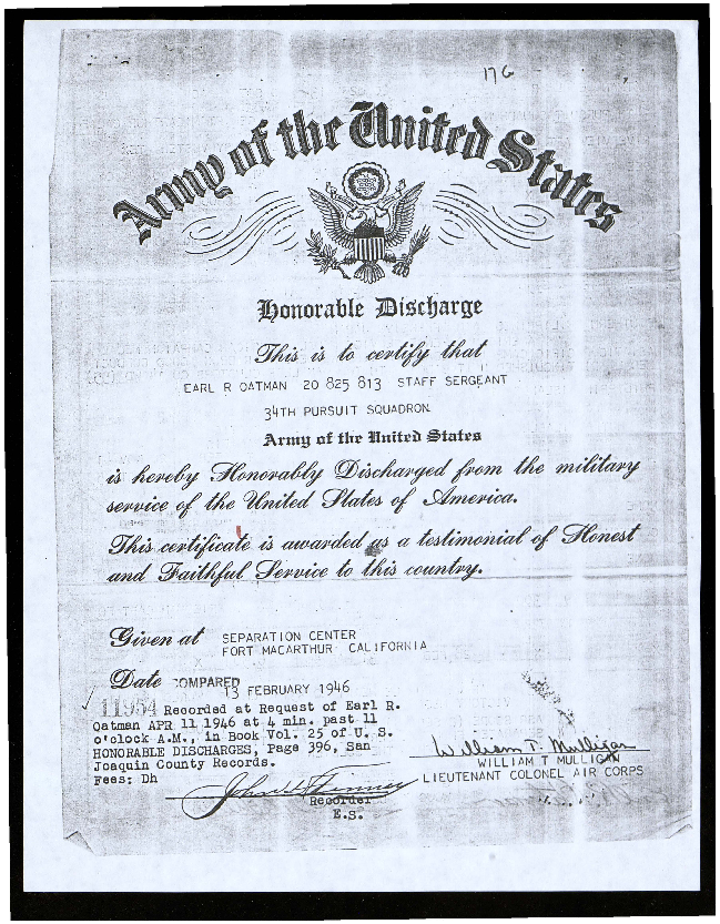 Calisphere Army Of The United States Honorable Discharge