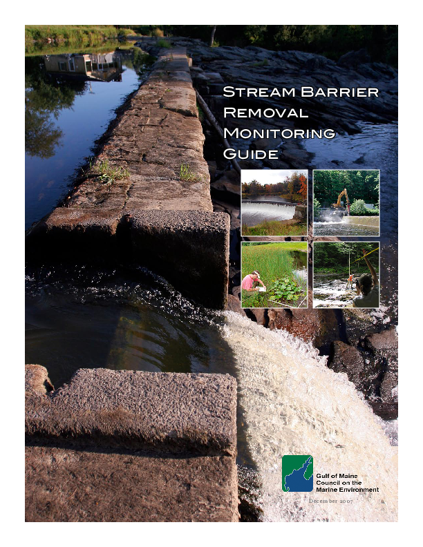 Stream Barrier Removal Monitoring Guide