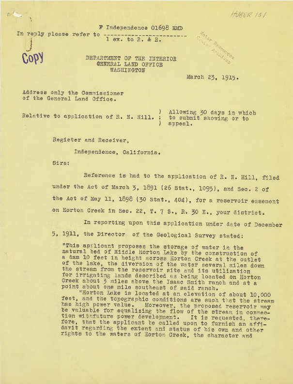 Calisphere correspondence relating to f a campbell and roy n correspondence relating to f a campbell and roy n hill application to us forest service altavistaventures Gallery