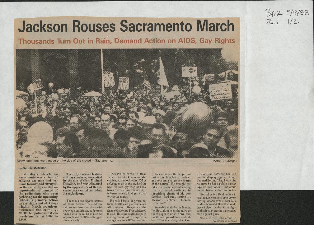 Programs: March on Sacramento