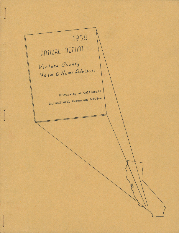 1958 Annual Report Ventura County Farm & Home Advisors