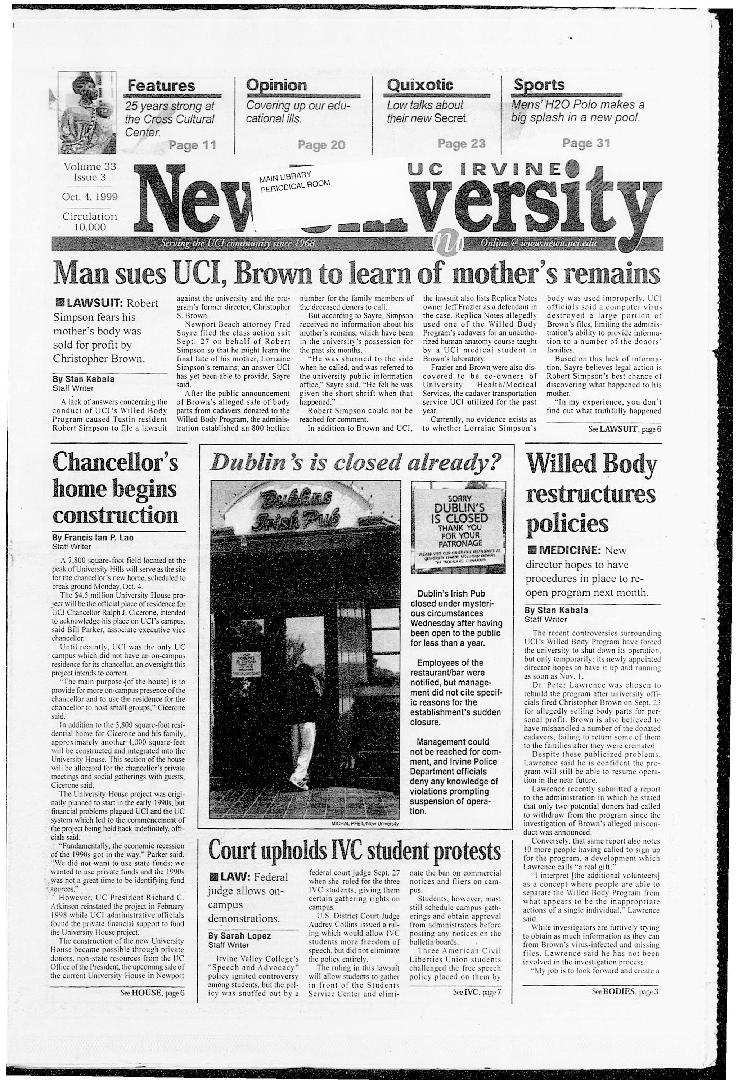 New University (Irvine, Calif.), Vol. 33, No. 03