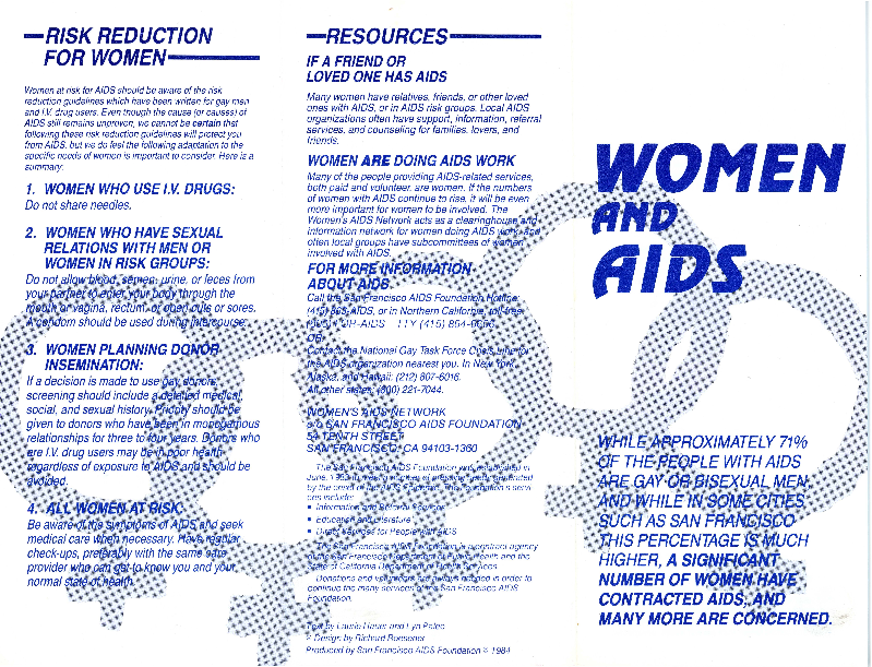 Women and AIDS brochure