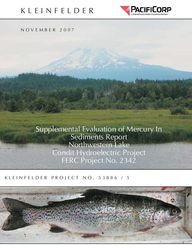 Supplemental Evaluation of Mercury in Sediments - December 2007