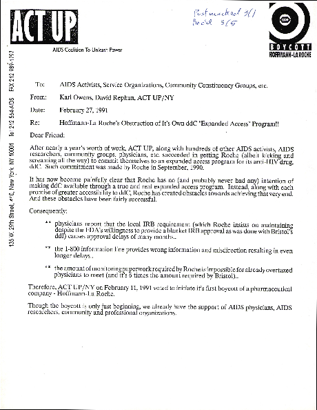 ACT-UP Golden Gate - Treatment Issues Committee
