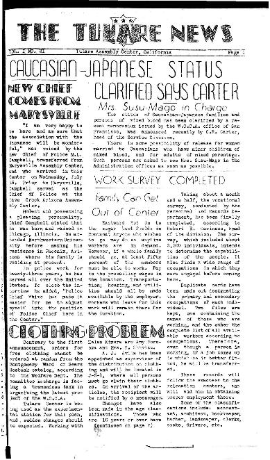 Tulare News, Vol. 1 No. 21