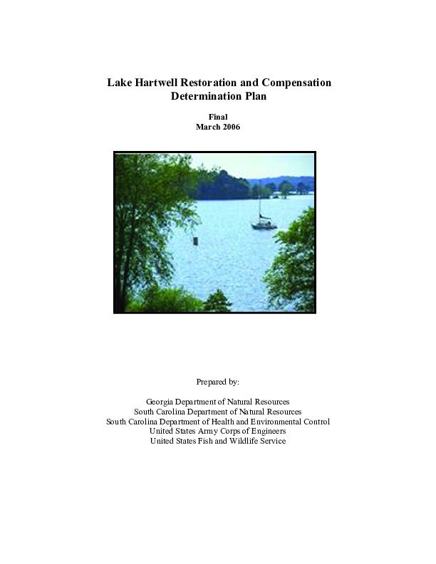 Lake Hartwell Restoration and Compensation Determination Plan