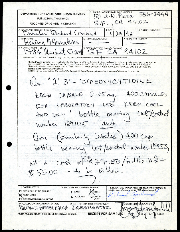 FDA and 1992 ddC Incident