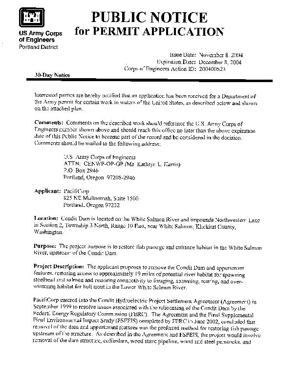 Public Notice for Comments