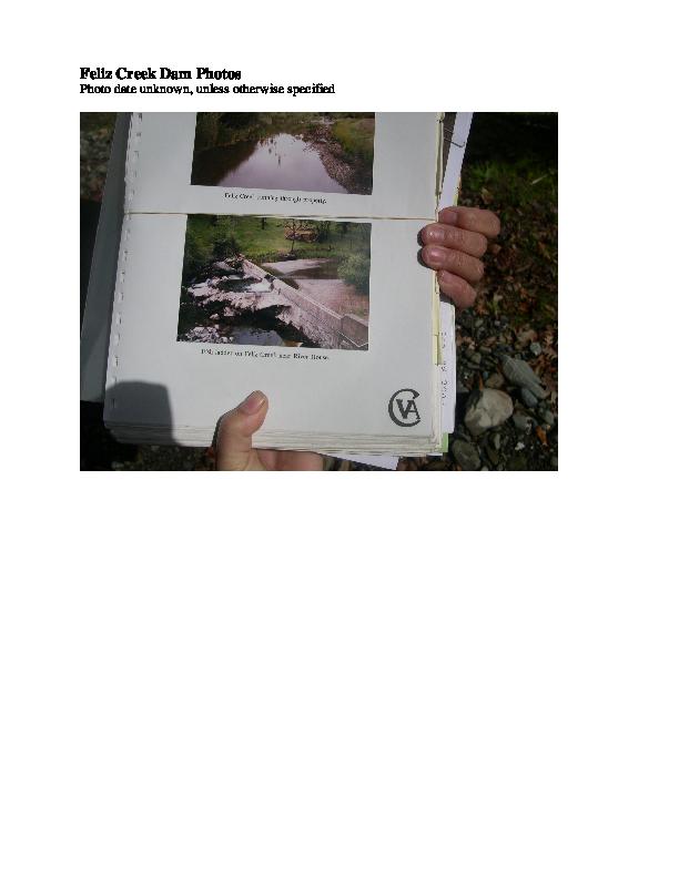 Feliz Creek Dam Photos