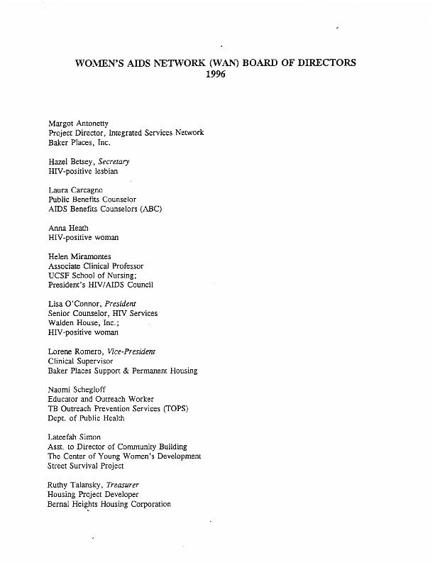 Board of Directors nominees