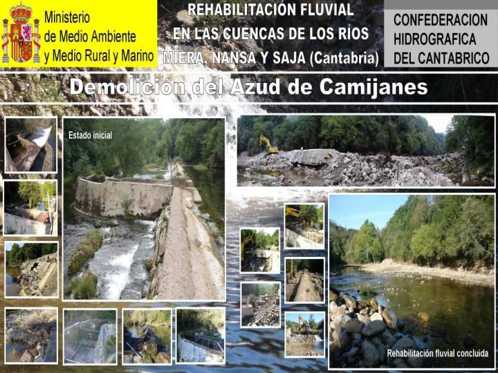 Demolicion del Azud de Camijanes