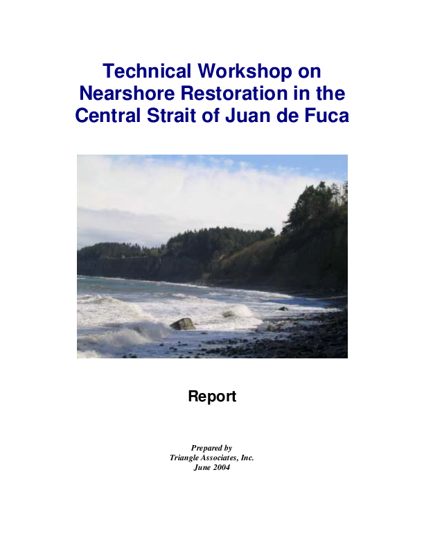 Technical Workshop on Nearshore Restoration in the Central Strait of Juan de Fuca