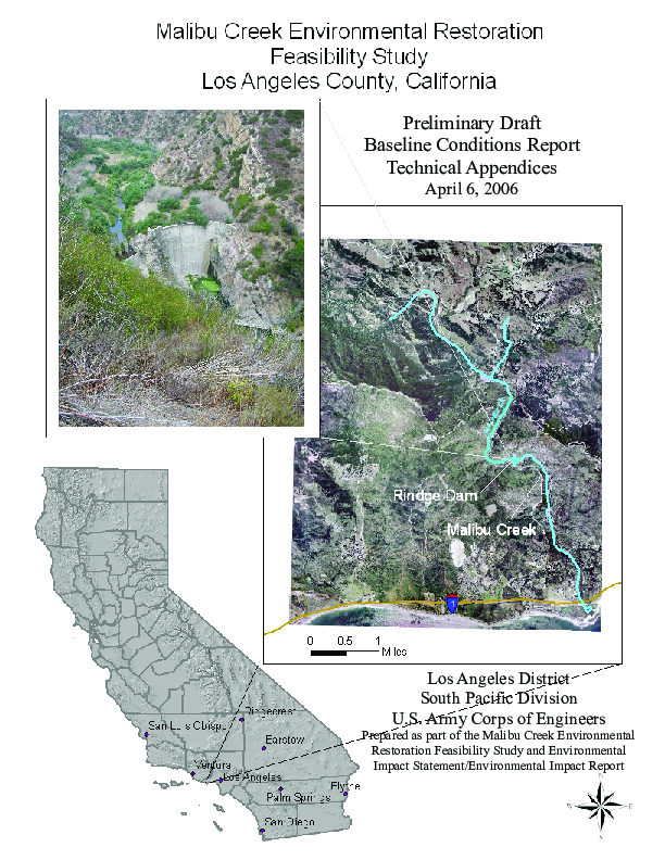 Malibu Creek Environment Restoration Feasibility Study Los Angeles County, California: Preliminary Draft Baseline Conditions Report Technical Appendices