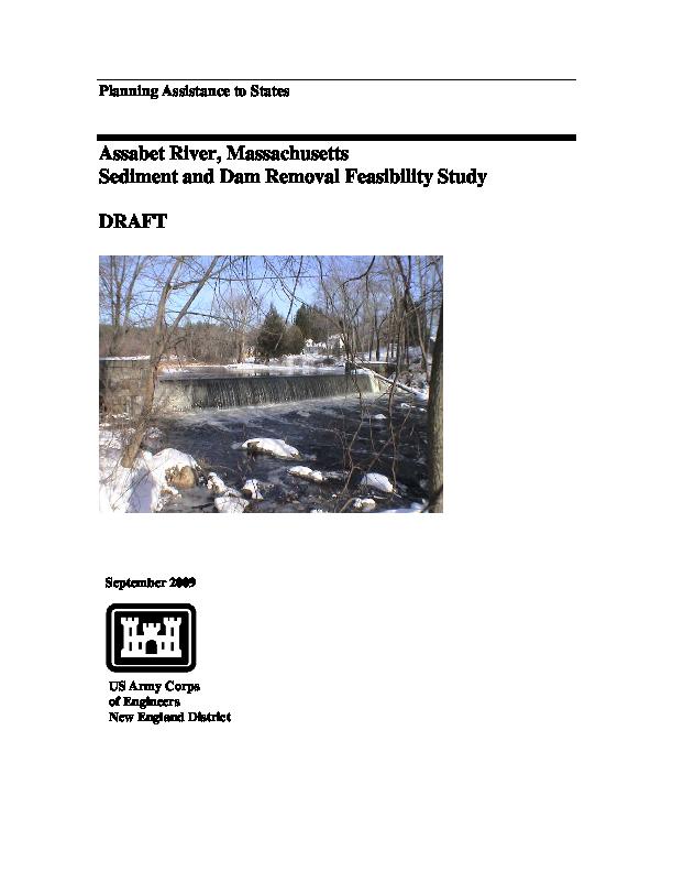 Assabet River, Massachusetts: Sediment and Dam Removal Feasibility Study - DRAFT
