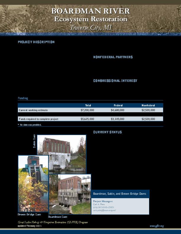 Boardman River Ecosystem Restoration