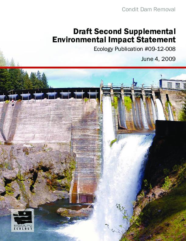Condit Dam removal draft second supplemental environmental impact statement