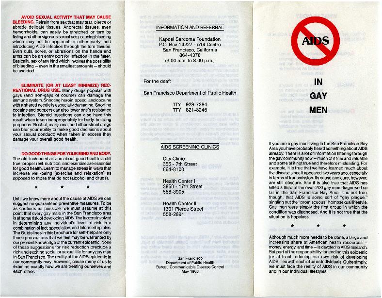 AIDS in Gay Men brochure
