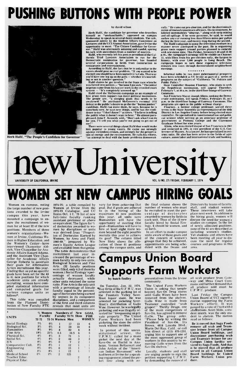New university (Irvine, Calif.) Vol. 06, No. 27