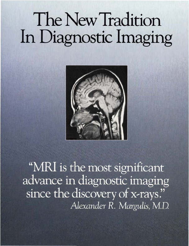 The New Tradition in Diagnostic Imaging brochure