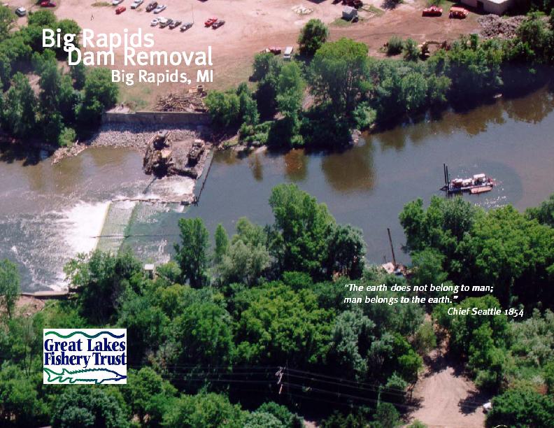 Big Rapids Dam Removal, Big Rapids, MI
