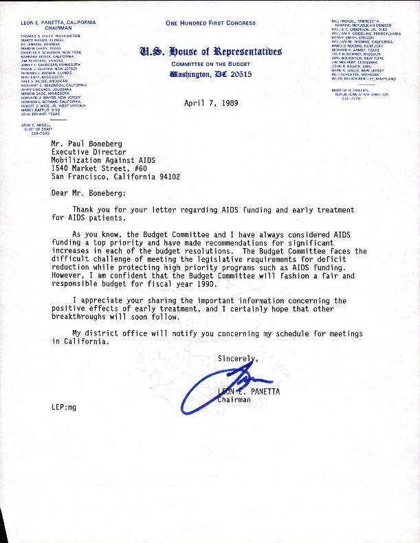 Correspondence: Political Correspondence: 1989