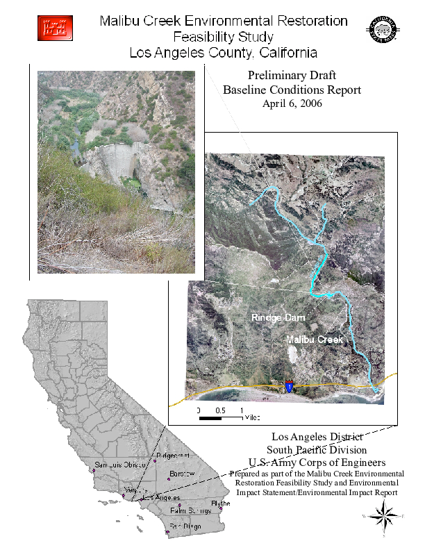 Malibu Creek Environment Restoration Feasibility Study Los Angeles County, California: Preliminary Draft Baseline Conditions Report