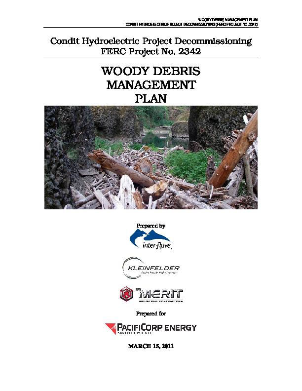 Woody Debris Management Plan