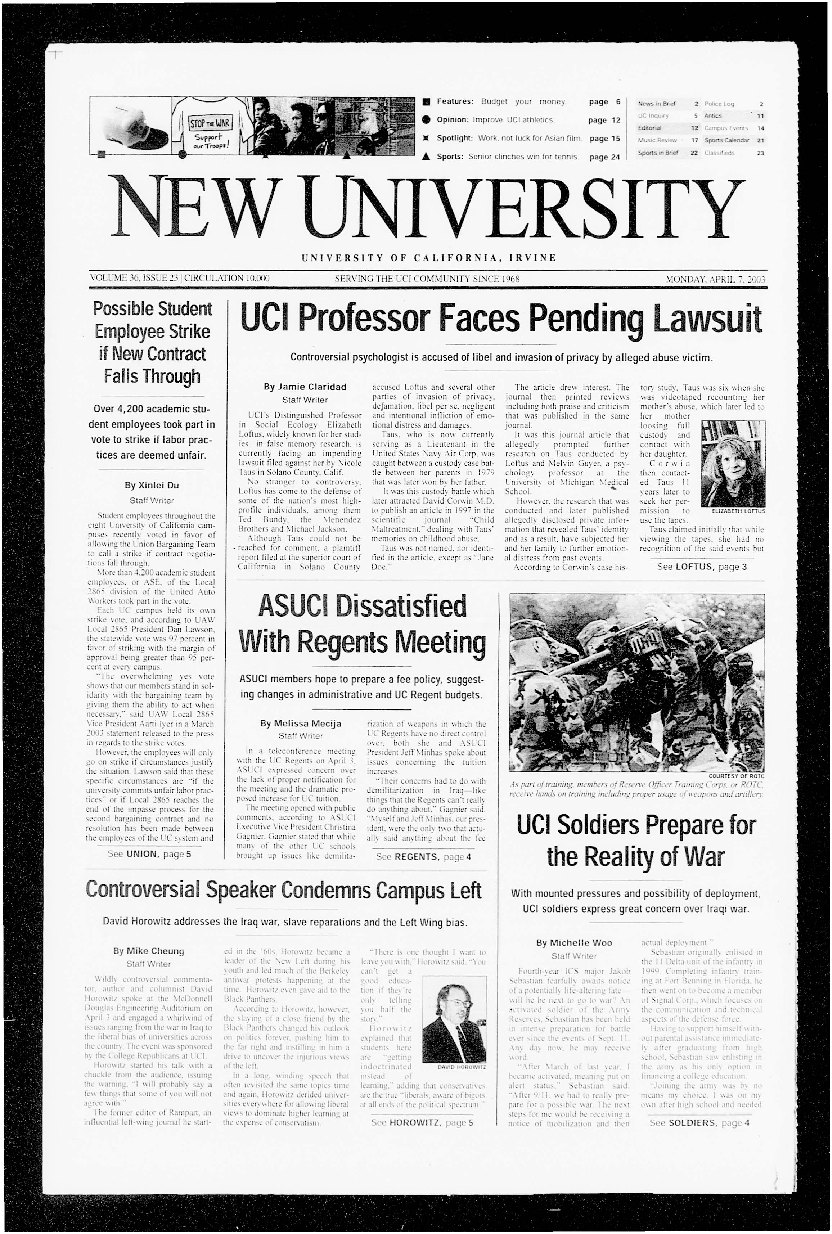 New University (Irvine, Calif.), Vol. 36, No. 23