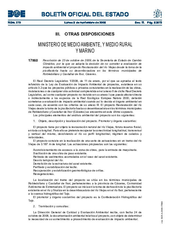 Resolucion 17860, Boletin Oficial Del Estado