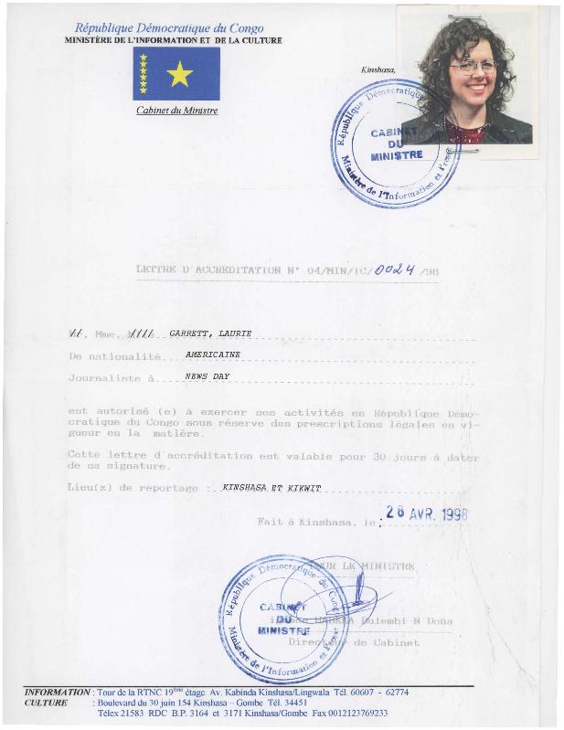 Democratic Republic of the Congo press pass