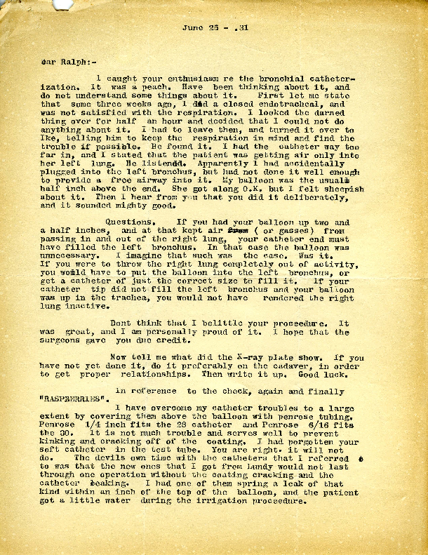 Arthur E. Guedel letter to Ralph Waters