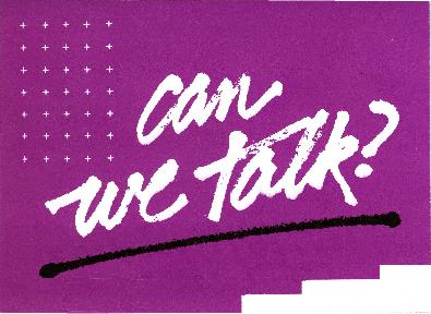 Can We Talk brochure