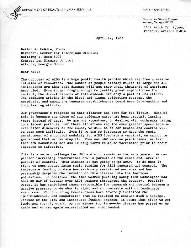 Donald P. Francis letter to Walter R. Dowdle [2]