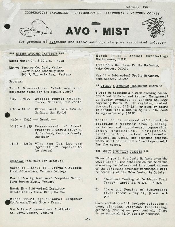 Avo Mist: Citrus-Avocado Institute