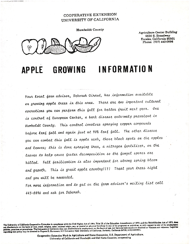 Apple Growing Information