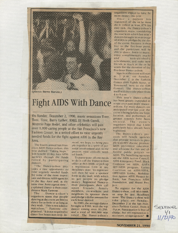 Development and Fundraising Events: Fundraising Events: Dance-a-thon: 1990,1995