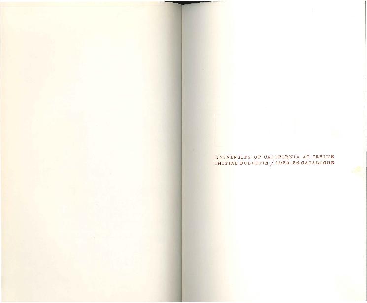 General Catalogue: University of California, Irvine