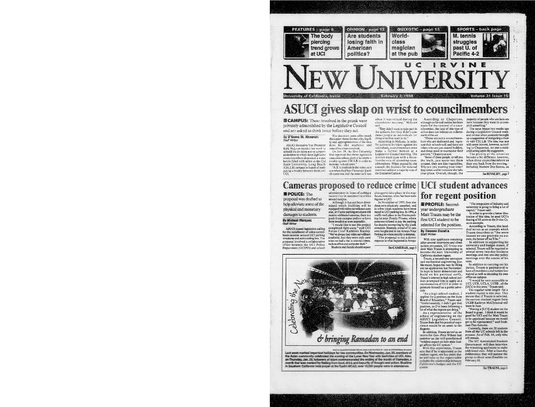 New University (Irvine, Calif.), Vol. 31, No. 16