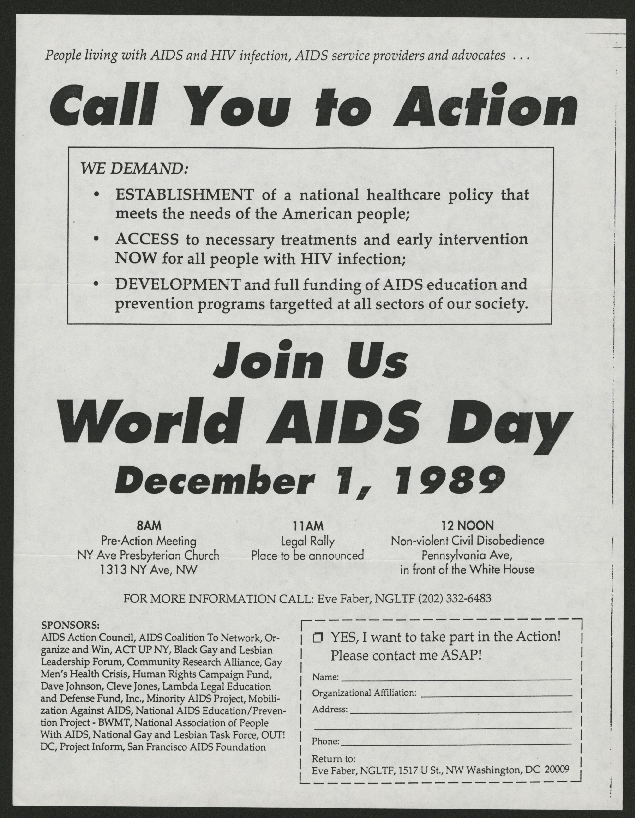 Media and Publicity: Flyers: 1989