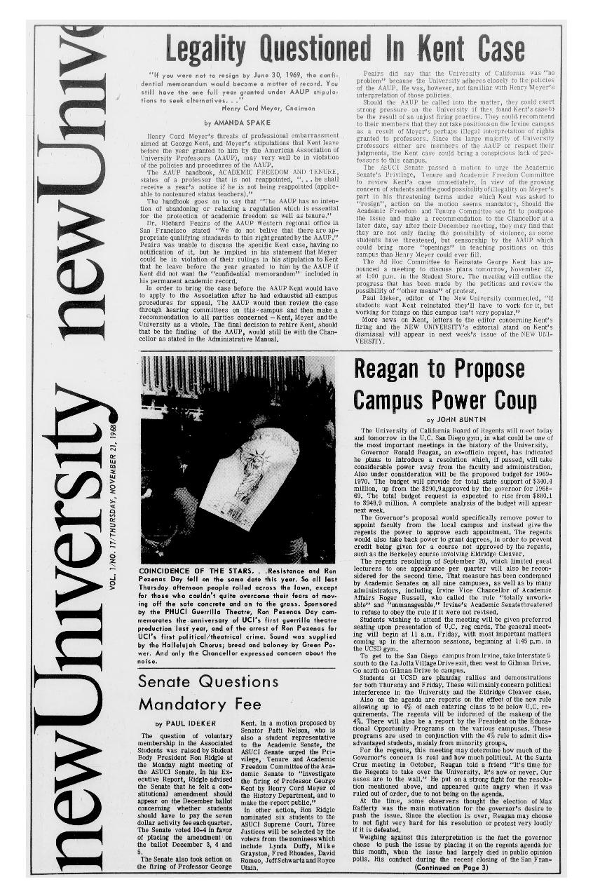 New university (Irvine, Calif.) Vol. 01, No. 17