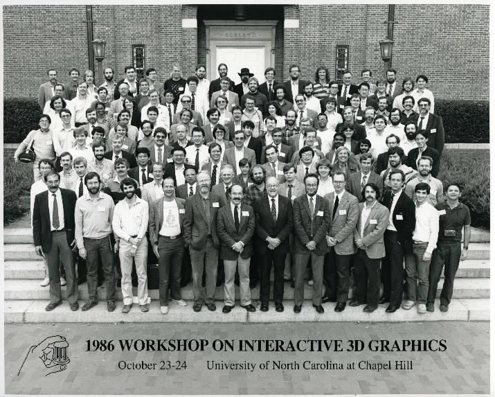 1986 Workshop on Interactive 3D Graphics participants