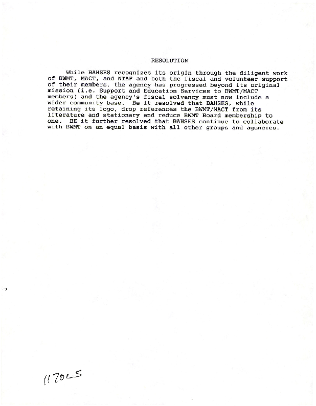 Board Minutes and Other Documents