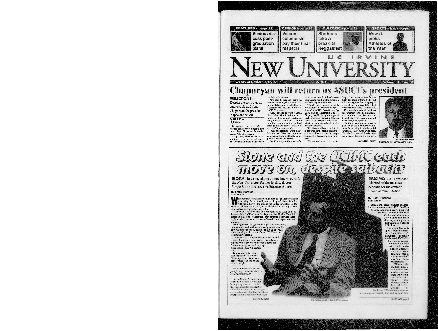 New University (Irvine, Calif.), Vol. 31, No. 31