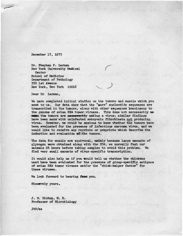 J. Michael Bishop letter to Stephen P. Lerman (2)