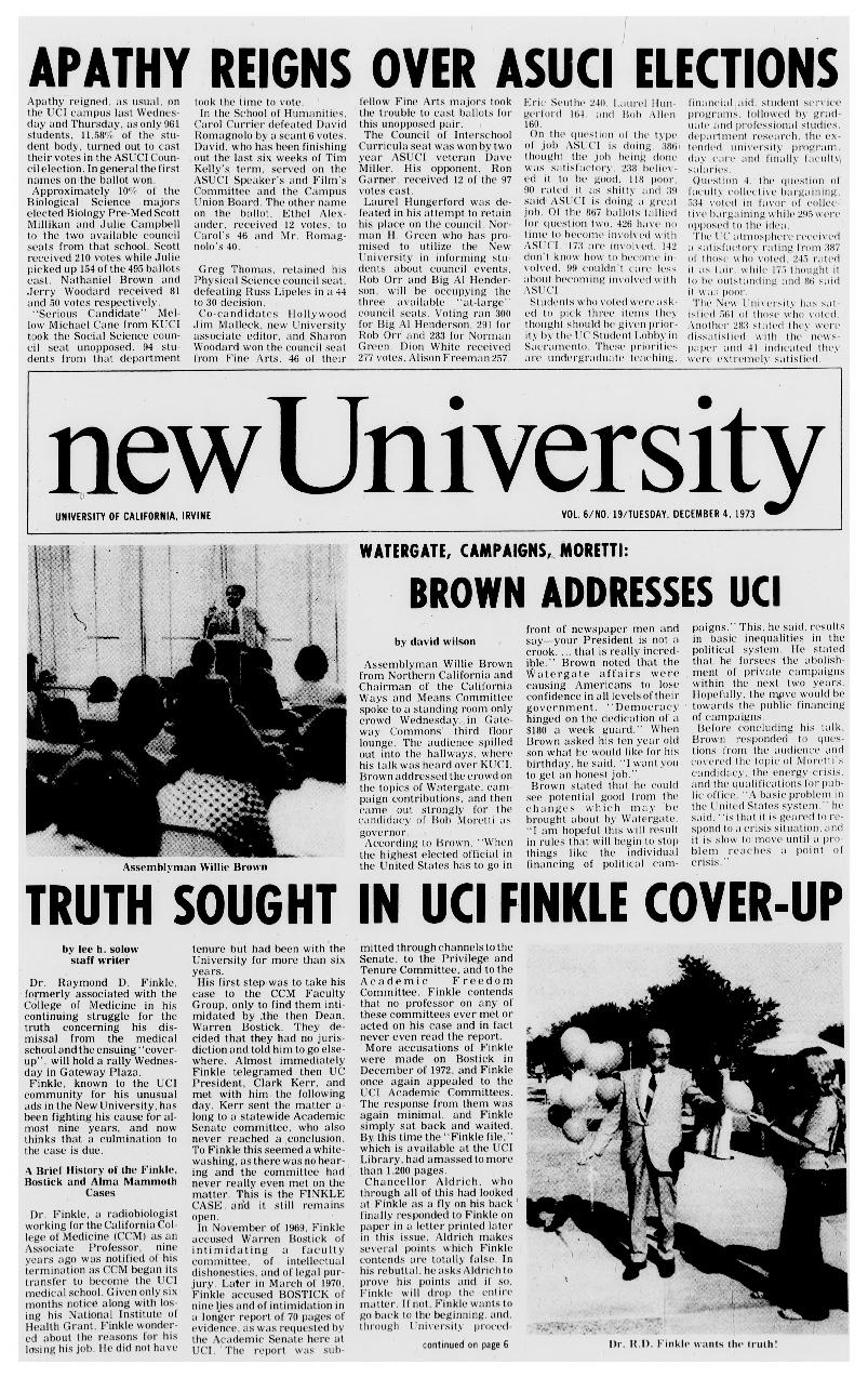 New university (Irvine, Calif.) Vol. 06, No. 19