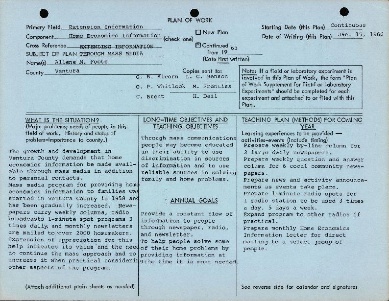 Report of Work 1965-1966 (Folder 2/2)