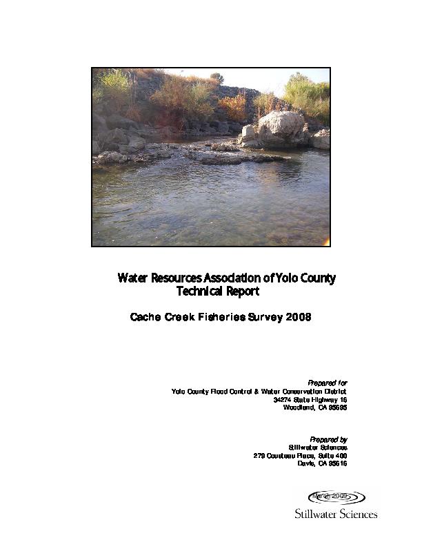 Technical Report, Cache Creek Fisheries Survey, 2008
